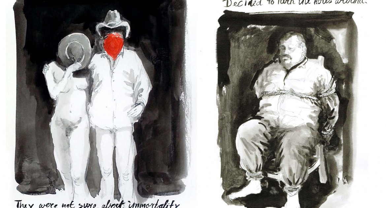 Walter van der Horst - 2 tekeningen (1)