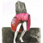 "Work by Walter van der Horst. ""As a high-rise she felt no shame"""
