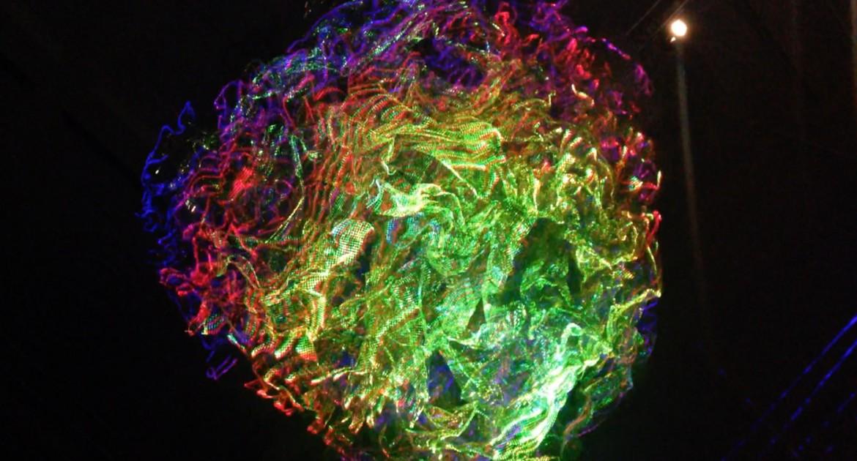 """Laser light sculpture """"Sun"""""""