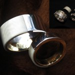 Wedding, Trouwringen, goud, zilver, abalone inleg - Kor Klompsma