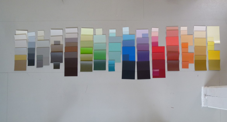 schets voor kleurenwaaier