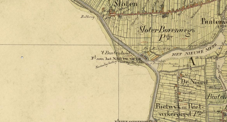 historische kaart Nieuwe Meer