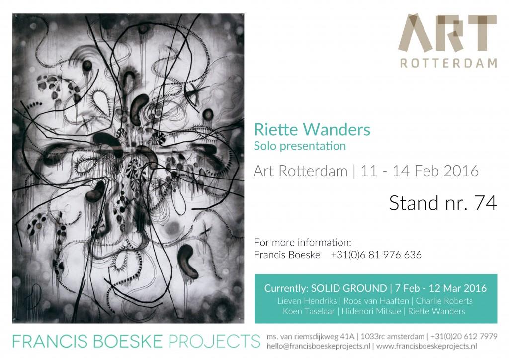 Invitation Art TRotterdam Roette Wanders