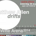 Uitnodiging expositie Matthew Allen in de Witte Arena