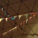 Decoratie tijdens een jamsessie in de Dome